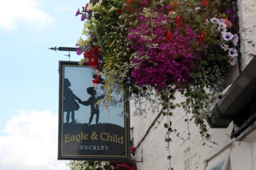 Eagle and Child sign Main St Auckley