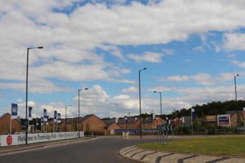 Robin Hood Airport adjacent housing devel Auckley